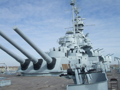 Guns on the Battleship Alabama